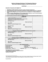 Fha Streamline Net Tangible Benefit Worksheet To Download ...