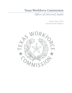 Fillable Online twc texas TWC Annual Audit Report 2015