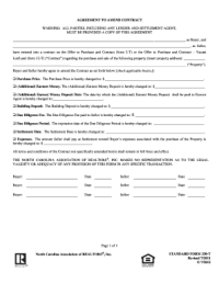 Nc Agreement Amend Contract - Fill Online, Printable ...