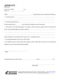 Illinois Homestead Affidavit - Fill Online, Printable ...