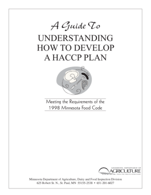 Fillable haccp manual 2016 pdf Forms and Document Blanks