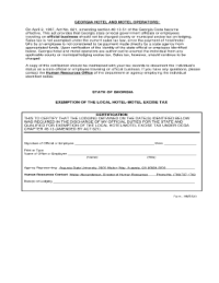 Federal Travel State Tax Exempt Forms
