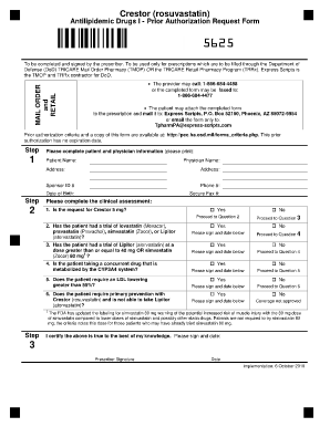 Tricare Prime Prior Auth Form For Crestor  Fill Online