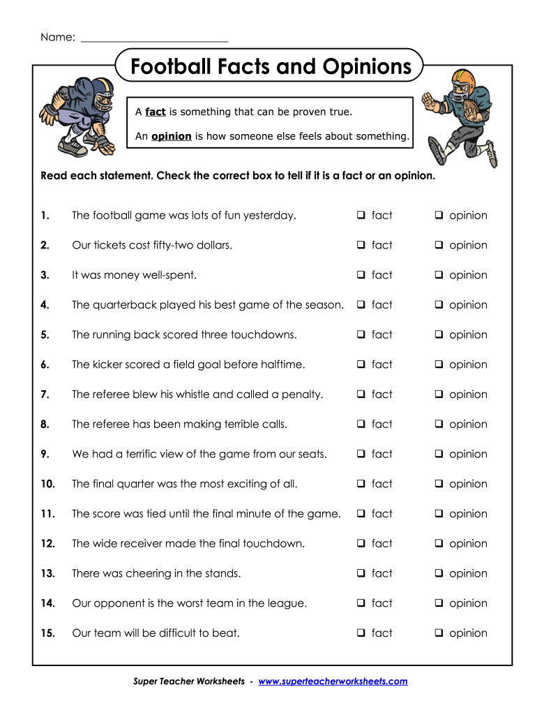 hight resolution of Fact And Opinion Worksheets - Fill Online