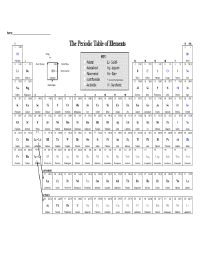 19 Printable periodic table of elements with names and