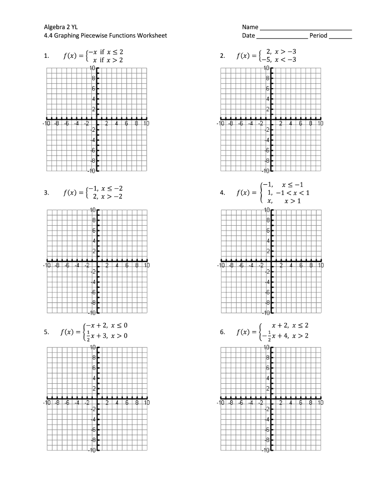 hight resolution of Piecewise Functions Worksheet