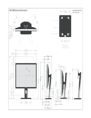Fillable Online Dell U2412M Monitor Perfilar dibujo. User
