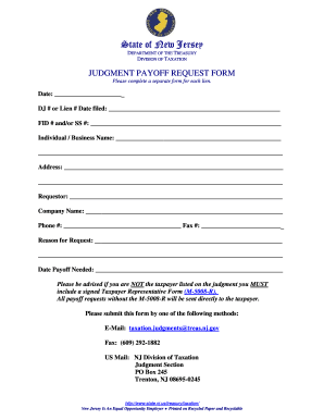 Pay Off Request Form  Fill Online Printable Fillable