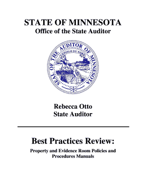 Fillable Online auditor state mn Best Practices Review