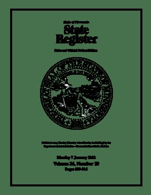 Fillable Online comm media state mn State Register, Volume
