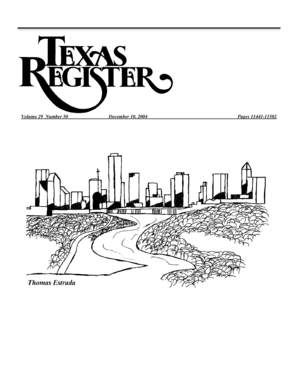 Fillable Online texinfo library unt Texas Register V.29 No