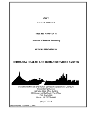 Fillable Online NEBRASKA HEALTH AND HUMAN SERVICES SYSTEM