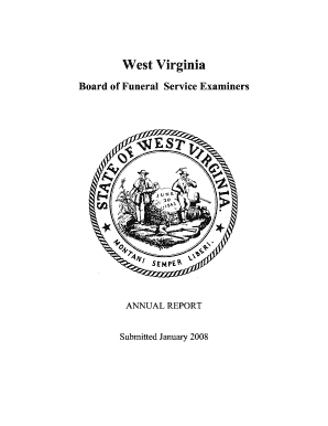 Fillable Online West Virginia Board of Funeral Service