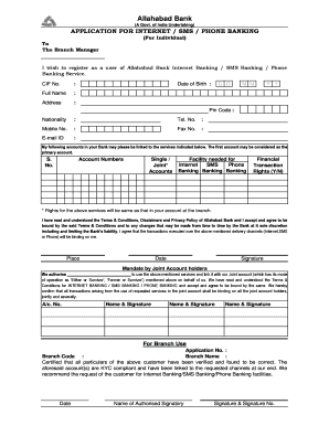 Allahabad Bank Kyc Form Fill Online Printable Fillable Blank Pdffiller