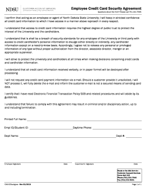 Most support dei, but don't know how to implement it. Employee Credit Card Agreement Template Fill Online Printable Fillable Blank Pdffiller