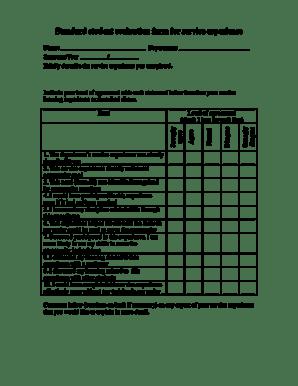 Fillable Online Standard student evaluation form for