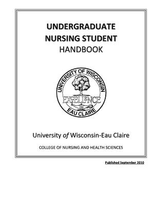 Fillable Online uwec Undergraduate nursing student