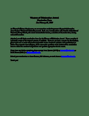 Fillable Online butler nomination form letter 2009