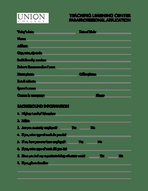 Fillable Online ucollege Download a volunteer application