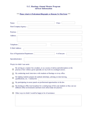 19 Printable Professional Biography Template Forms