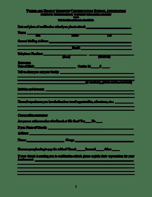 Fillable Online PDF: Certification School Application Form