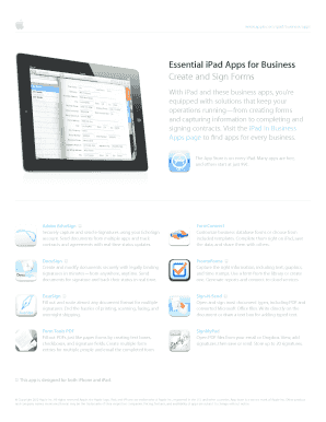 Fillable Online Essential iPad Apps for Business Create