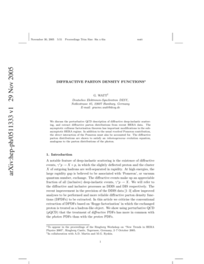 Fillable Online cdsweb cern Diffractive parton density