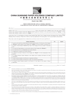 Fillable Online Proxy form for the annual general meeting