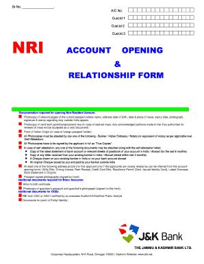 J K Bank Account Opening Form Pdf Fill Online Printable Fillable Blank Pdffiller