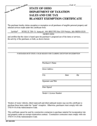 769a Ohio State Tax Exempt Form - Fill Online, Printable ...