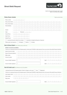 Fillable Online Download Direct Debit Request Form