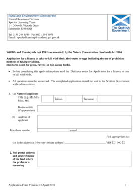 Fillable Online scotland gov Application Form Version 3.3