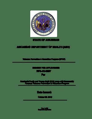 Fillable Online healthy arkansas RFA-13-0007 TPCP Academic