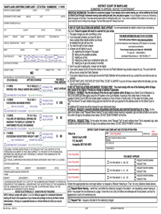 Blank Citation Form - Fill Online, Printable, Fillable, Blank