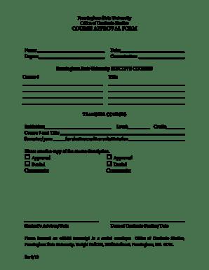 Fillable Online framingham Graduate Course Approval Form