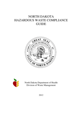 Fillable Online ndhealth Hazardous Waste Compliance Guide