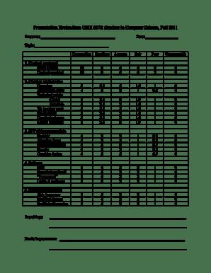 7 Printable presentation evaluation form pdf Templates