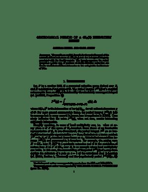 Fillable Online ORTHOGONAL PERIOD OF A GL3 (Z) EISENSTEIN