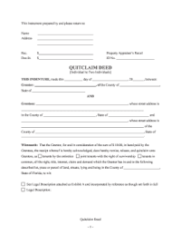 Bill Of Sale Form Connecticut Quitclaim Deed Form ...