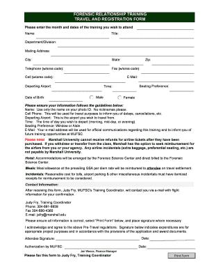 Marshall University Forensic Science Departmental Application Worksheet  Fill Online Printable
