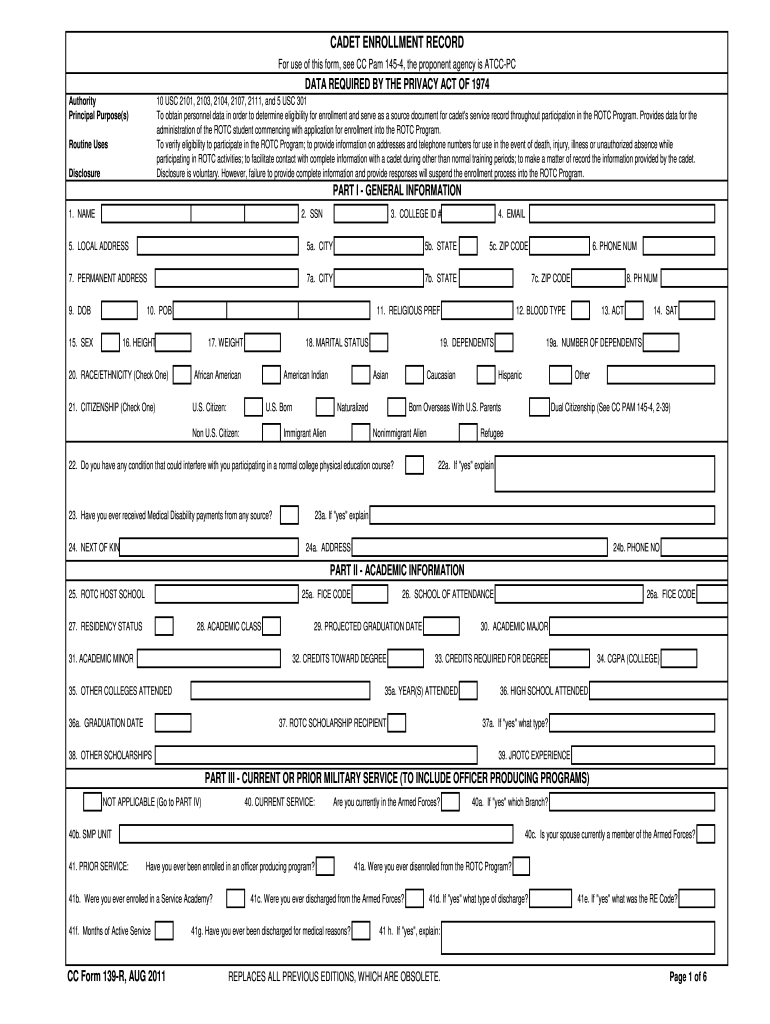 2011 CC Form 139-R Fill Online, Printable, Fillable, Blank