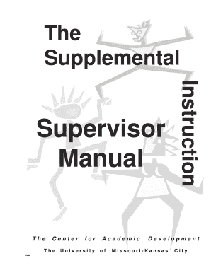 Fillable Online pass missouristate PASS Supervisor Manual