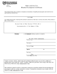 Filling Out Ohio Tax Exempt Form - Fill Online, Printable ...