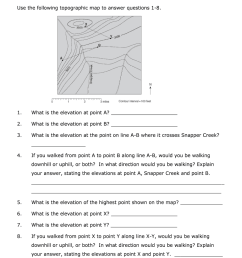 Topographic Map Reading Worksheet Answer Key Pdf - Fill Online [ 1024 x 770 Pixel ]