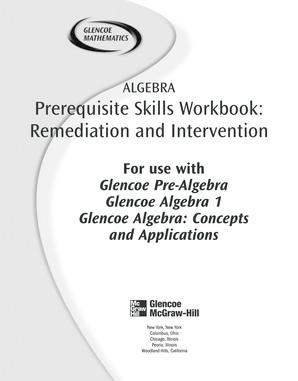 Fillable Online Prerequisite Skills Workbook Glencoe Texas