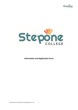 Fillable Online steponecollege nsw edu 2015 Application