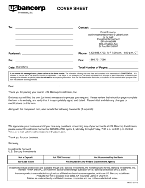 Fillable Online COVER SHEET - wmusbankcom Fax Email Print - PDFfiller