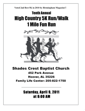Fillable Online bluffparkal Tenth Annual High Country 5K