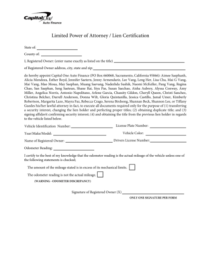 Fillable Online Limited Power of Attorney Lien ...