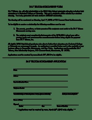 Fillable Online 24-7 telcom scholarship form 24-7 telcom